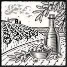 Olive,Olive Tree,Tuscany,Woodcut,Food,Olive Oil,Mediterranean Sea,Old-fashioned,Mediterranean Countries,Fruit Bowl,Fruit,Tree,Engraved Image,Farm,Ilustration,Cooking Oil,Black Color,Bottle,Autumn,Cloud - Sky,House,White,Harvesting,Rural Scene,Landscape,Agriculture,Crop,1940-1980 Retro-Styled Imagery,Grove,Drawing - Art Product,Mediterranean Food,Olive Branch,Hill,Sea,Bowl,Frame,Line Art,Leaf,Village,Print,Season,Nature,Vector,Land,Branch,Still Life,Backgrounds,Summer,Illustrations And Vector Art,Landscapes,Horizon Over Land,Nature,Agriculture,Industry,Plant,Computer Graphic,Outdoors