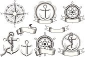 Nautical Vessel,Anchor,Compass,Old-fashioned,Wheel,Helm,Insignia,Banner,Sea,Sign,Rope,Marine Compass,Symbol,Ribbon,Design Element,Antique,Badge,Steering Wheel,Compass Rose,Direction,Vector,Star Shape,Ilustration,seafaring,wind rose,Water,Sports And Fitness,Transportation,Hand Wheel