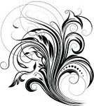Design Element,Engraving,Swirl,Black Color,Rococo Style,Elegance,Floral Pattern,Leaf,Growth,Computer Graphic,Single Object,Ilustration,No People,Vector,Illustrations And Vector Art,Abstract,Vector Florals,Scroll Shape,Vector Backgrounds,Vector Ornaments,Vitality,Curve,Curled Up,Spiral,Ornate