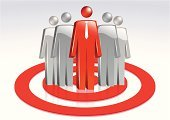 Marketing,Target,Leadership,Business,Group Of People,Group of Objects,People,Aspirations,Red,Teamwork,Circle,Focus - Concept,Men,Stick Figure,Communication,Computer Network,Image Focus Technique,White,Partnership,Determination,White Background,Vector,Team,Tie,Global Communications,Isolated On White,Concentric,High Angle View,Isolated,Business Relationship,Businessman,Togetherness,Small Group Of People,Business,Success,Business Teams,Concepts And Ideas,Pattern