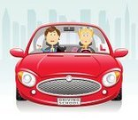Car,Driving,Front View,Cartoon,Driving Test,L Plate,Women,Men,Exam,Instructor,Teenage Girls,City,Cityscape,New,Letter L,Vector,Modern,Ilustration,Sadness,Steering Wheel,Sports Car,Sunglasses,Red,Driving School,Information Sign,Skyscraper,Displeased,Tinted Sunglasses,Pencil,road traffic,Female,Failure,Sign,Shouting,Shiny,Disappointment,Cute,Pink Color,highway code,Urban Scene,Rules Of The Road,Blond Hair,Control,Male