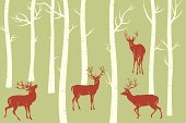 Tree,Deer,Forest,Tree Trunk,Silhouette,Stag,Birch Tree,Animal,Hunting,Antler,Pattern,Animals Hunting,Art Deco,Nature,Backgrounds,Autumn,Woodland,Green Color,Vector,Cartoon,Majestic,Ilustration,Outline,Design Element,Animals In The Wild,Springtime,Image,Style,Color Image,Male Animal,Group Of Animals,Wildlife,Wild Animals,Herd,Hoofed Mammal,Mammals,Mammal,Spring,Nature,Season,Painted Image,Animals And Pets