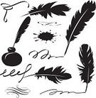 Feather,Feather,Quill Pen,Writing,Calligraphy,Text,Ink,Silhouette,Swan,Bird,Black Color,Vector,Single Object,Flying,Abstract,White,Wing,Backgrounds,Concepts,Falling,Pattern,Set,Ideas,Nature,Lightweight,Ilustration,Sky,Strand - South Africa,Vector Ornaments,Isolated,Moving Up,Illustrations And Vector Art,Fluffy,Collection,Smooth,Old,Purity,Computer Graphic