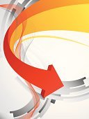 Arrow Symbol,Abstract,Direction,Backgrounds,Gray,Orange Color,Curve,Business,Red,Modern,Three-dimensional Shape,Sparse,Shape,Vector,Business Backgrounds,Business,Ilustration,Illustrations And Vector Art,Style,Color Gradient,Wave Pattern,Business Abstract,Copy Space,Computer Graphic,Empty,Vector Backgrounds,Design