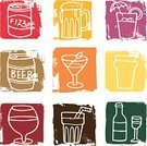 Beer - Alcohol,Wine,Alcohol,Alcohol,Symbol,Cocktail,Wine Bottle,Icon Set,Barrel,Keg,Cold Drink,White Background,Grunge,Martini,Cola,Ilustration,Block,Drawing - Art Product,Pint Glass,Brandy,Textured Effect,Food And Drink,Alcohol,Illustrations And Vector Art,Lifestyle