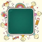 Child,Preschool,Education,Frame,Cartoon,Little Boys,Blackboard,Flower,Little Girls,Vector,Ilustration,Rainbow,Design,Pencil,Candy,Sketch,Multi Colored,Decoration,Painted Image,Vector Cartoons,Hand-drawn,Vector Backgrounds,Babies And Children,Illustrations And Vector Art,Lifestyle