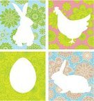 Easter,Rabbit - Animal,Chicken - Bird,Silhouette,Pattern,Ilustration,Animal,Baby Rabbit,Backgrounds,Flower,Color Image,Illustrations And Vector Art,Holidays And Celebrations,Easter,Clip Art,Decoration,Vector,Ornate,Creativity