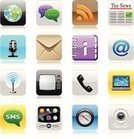 Symbol,Telephone,Computer Icon,Mobile Phone,Icon Set,Smart Phone,Newspaper,The Media,Internet,Interface Icons,E-Mail,Button,Connection,Communication,Global Communications,Technology,Vector Icons,Communications Technology,Computers,Illustrations And Vector Art