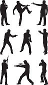 Gun,Silhouette,Police Force,Men,Spy,Shooting,Thief,Gunman,Weapon,Rifle,Handgun,Target Shooting,Aiming,Murderer,Sniper,Outline,Sport,Suicide,Shotgun,People,Violence,Vector,White Background,Terrorism,Recreational Pursuit,Criminal,Ilustration,Computer Graphic,Full Length,cocking,Clip Art,Isolated,Rifle Sight,War,Multiple Image,Black Color,Digitally Generated Image,Sharp Shooting,Profile View,Black And White