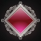 Picture Frame,Shielding,Pink Color,Vector,Silver Colored,Silver - Metal,Ornate,Shiny,Copy Space,Projection,Metallic,Glowing,filigree,Ilustration,Vector Backgrounds,Design Element,Illustrations And Vector Art,Vector Ornaments,Angle,Creativity,Backgrounds,Exploding