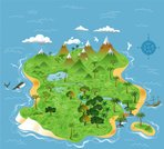 Map,Island,Pirate,Treasure Map,Tropical Climate,Compass,Vector,Caribbean Culture,Shipwreck,Whale,Ideas,UK,Inspiration,X Marks The Spot,Concepts,Travel Locations,Illustrations And Vector Art