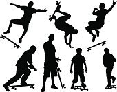 Skateboard,Skateboarding,Extreme Sports,Young Adult,Action,Jumping,Young Men,Extreme Sports,Sports And Fitness