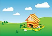 Farm,Backgrounds,Horse,Fantasy,Roof,Vector,Lamb,Ilustration,Play,Dairy Farm,Heaven,Scenics,Farm Animals,Nature,Residential District,Architecture And Buildings,Landscapes,Animals And Pets,Sky,Cattle,Dreamlike