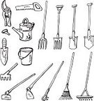 Gardening,Pitchfork,Sketch,Rake,Doodle,Bucket,Garden Hoe,Shovel,Gardening Equipment,Drawing - Art Product,Watering Can,Gardening Fork,Can,Pruning Shears,Trowel,Vector,Mattock,Outline,Equipment,Pencil Drawing,Ilustration,Scissors,Black Color,Hand Saw,White,Illustrations And Vector Art,Isolated,White Background,Vector Cartoons,No People,Isolated On White,Household Objects/Equipment,Design,Gardening Trowel,Objects/Equipment