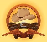 Cowboy,Hat,Belt,Cowboy Hat,Wild West,Gunslinger,Bullet,Gun Holster,Gun,Buckle,Handgun,Cartoon,Sheriff,Ammunition,Leather,gunfight,Shooting,Vector,Illustrations And Vector Art,gunfighter,sixshooter