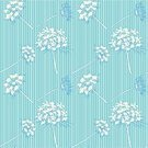 Blue,Striped,Textile,Backgrounds,Seamless,Queen Annes Lace,Pattern,Cute,Flower,Weed,Springtime,Flowers,Vector Backgrounds,Nature,Repetition,Vector,Ilustration,Illustrations And Vector Art
