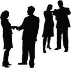Silhouette,People,Business,Human Hand,Shaking,Meeting,Back Lit,Women,Handshake,Office Interior,Men,Working,Greeting,Vector,Businessman,Team,Teamwork,Couple,Professional Occupation,Expertise,Report,Book,Note Pad,Ilustration,Businesswoman,Suit,Skirt,Teamwork,Actions,Concepts And Ideas,Illustrations And Vector Art