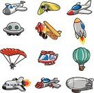 Cartoon,Airplane,Balloon,Air,Rocket,Hot Air Balloon,Blimp,Helicopter,Heat - Temperature,Jet - Band,Symbol,Transportation,Parachuting,Land Vehicle,Doodle,Flying,Cute,Drawing - Art Product,Vector,Air Vehicle,Space Travel Vehicle,Seaplane,Machinery,Private Airplane,Commercial Airplane,Color Image,Sky,Drawing - Activity,Fighter Plane,Art,Vector Cartoons,White,Transportation,Gliding,Vector Icons,Collage,Backgrounds,Hanging,Ilustration,Design Element,Set,Illustrations And Vector Art,Isolated