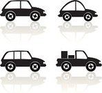 Car,In A Row,Traffic,Pick-up Truck,Transportation,Ilustration,Modern,Land Vehicle,White,Vector,Wheel,Travel,Set,Objects/Equipment,Gray,Vector Backgrounds,Illustrations And Vector Art,Transportation,Industrial Objects/Equipment,Style,Design,Image,Artificial Model,Black Color