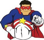 Superhero,Heroes,Superman - Superhero,Pointing,Mask,Cartoon,Men,Strength,Macho,Cape,Power,Muscular Build,Human Muscle,Male,Honor,Toughness,Ilustration,Courage,Blue,forceful,Illustrations And Vector Art,valiant,Burly,Justice - Concept,White,Authority,Solid,Smiling,chiseled,Crime Fighter,Abdominal Muscle,Rough,Actions,Vector Cartoons,People,Star Shape,Gesturing,Confidence,Red