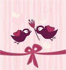 Wedding,Greeting Card,Jubilee,House Sparrow,Bird,Flower,Tulip,Romanticism,Pink Color,Scrapbook,Rose - Flower,Vector,Springtime,Pattern,Loving,Love,Sparrow,Illustration Technique,Human Heart,Pair,Graph,Surprise,Red,Ribbon,Valentine's Day - Holiday,Ribbon,Honeymoon,Cute,Happiness,Gift,Vector Backgrounds,Flower Head,Floral Pattern,Illustrations And Vector Art