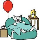 Get Well Card,Domestic Cat,Illness,Recovery,Greeting Card,Cartoon,Balloon,Humor,Pets,Drawing - Art Product,Medicine,Pet Bed,Healthcare And Medicine,Healthy Lifestyle,Sketch,Animal,Sadness,Line Art,Helium Balloon,Cats,Pet Toy,Vector Cartoons,Relaxation,Resting,Animals And Pets,Illustrations And Vector Art