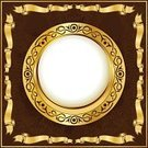 Circle,Ribbon,Picture Frame,Design,Ornate,Decoration,Gold Colored,Luxury,Style,Scroll Shape,Arts And Entertainment,Arts Abstract,Computer Graphic,Placard,Swirl,Floral Pattern,Vector,Retro Revival,Shiny,Classic,Illustrations And Vector Art,Arts Backgrounds,Bow,Old-fashioned,Classical Style,Simplicity,Elegance,Vector Cartoons