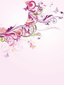 Butterfly - Insect,Purple,Swirl,Flower,Pink Color,Banner,Backgrounds,Honeysuckle Pink,Spiral,Grunge,White Butterfly,Ornate,Blob,Temperate Flower,Illustrations And Vector Art,Vector Backgrounds,Nature Abstract,Nature,Vector Florals