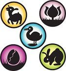 Lamb,Rabbit - Animal,Icon Set,Easter,Tulip,Easter,Holidays And Celebrations,Springtime,Duck,Eggs