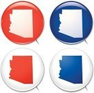 Map,Arizona,Brooch,Election,Computer Icon,Badge,state,Concepts And Ideas,Illustrations And Vector Art,Blue,Vector Icons,Ilustration,Vector,Outline,Political Rally,Red