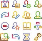 Symbol,Searching,Book,Computer Icon,Data,Manager,Editor,Icon Set,Important,Green Color,Speech,Web Page,Stop,Purple,Hourglass,Brown,Contour Drawing,Repetition,Vector,White,Back Arrow,Red,Yellow,Orange Color,Writing,Discussion,Blue,Set,Internet,Illustrations And Vector Art,Arts And Entertainment,Vector Icons,Business Symbols/Metaphors,Diagram,Arts Symbols,Connection,Business