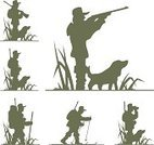 Hunting,Animals Hunting,Silhouette,Dog,Gun,Shooting,Target Shooting,Flower,Shooting at Goal,Ilustration,Bag,fowling,Isolated,Outline,Vector,Plant,rifleman,Personal Accessory,gunner,Nature,Animal,White,Backpack,Illustrations And Vector Art,Nature,Standing,Grass,Plants,Hobbies,Occupation,Concepts And Ideas,Leisure Activity,Relaxation,Weapon,Passion