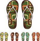Flip-flop,Casual Clothing,Summer,Sandal,Group of Objects,Isolated,Surfing,Pair,Surf,Remote,Vector,Ilustration,Multi Colored