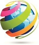 Globe - Man Made Object,Earth,World Map,Sphere,Multi Colored,Spiral,Abstract,Travel,Tourism,Art,Business Travel,Image,Design Element,Design,Pattern,Vector,Business Concepts,Travel Backgrounds,Travel Locations,Vector Icons,Isolated,Shape,Business,Illustrations And Vector Art