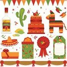 Mexican Culture,Pinata,Sombrero,Party - Social Event,Tequila - Drink,Computer Icon,Cactus,Pattern,Vector,Label,Computer Graphic,Cake,Banner,Confetti,Chili Pepper,Clip Art,Knick Knack,Gift,Celebration,Bottle,Ribbon,Award Ribbon,Man Made Object,Ilustration,Green Color,Lemon,Red,Isolated,Parties,Vector Icons,Decoration,Holidays And Celebrations,Isolated Objects,Yellow,Illustrations And Vector Art,Isolated-Background Objects,Icing