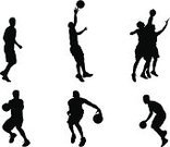 Basketball,Basketball - Sport,Silhouette,Athlete,People,Team Sport,Outline,Layup,Sport,Competition,Sports Team,Court,Throwing,People,Sports And Fitness,Team Sports,Dribbling,Tossing,Shooting at Goal,Jumping