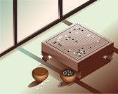 Go,Board Game,Japan,Korean Culture,Chinese Culture,China - East Asia,Korea,Ilustration,Japanese Culture,Goban,Weiqi,Zen-like,Wood - Material,Strategy,East Asian Culture,Vector