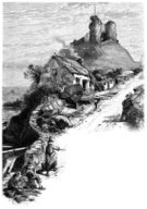 Cottage,Castle,Ilustration,Sketch,House,Sea,Wales,Engraved Image,Old,Stone,Welsh Culture,Hill,Fisherman,criccieth,Nautical Vessel,Knitting,Tremadog Bay,Stone Material,Senior Adult,Monochrome,Outdoors,Working,Image Created 1870-1879,On Top Of,Llywelyn The Great,Gwynedd,Image Created 19th Century,Recreational Boat,Fishing Boat,Drawing - Art Product,People,Old Ruin,Llewellyn,History,Welsh Hat,Carrying,UK,The Past,Social History,Castell Cricieth,Damaged,Cultures,Ruined,19th Century Style,Famous Place,Man Made Structure,High Up,Black And White,Built Structure,Women,Criccieth Castle,Men