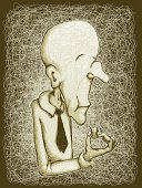 Eating,Senior Adult,Tasting,Cheek,Facial Expression,Characters,Gourmet,Ilustration,Chewing,Refreshment,Formalwear,masticate,Emotion,Waist Up,Satisfaction,Old-fashioned,Enjoyment