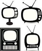 Television Set,Retro Revival,Old,Black Color,White,Vector,Ilustration,Electrical Equipment,Set,Technology,Shadow,Single Object,Image,Entertainment,Objects/Equipment,Antenna - Aerial,Vector Backgrounds,Design,Electronics,Information Medium,Illustrations And Vector Art,Style,Shape,Individuality,Household Objects/Equipment,Communication,Technology,Isolated