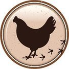 Chicken - Bird,Footprint,Silhouette,Track,Poultry,Livestock,Animal,Brown,Circle,Label,Animal Themes,Illustrations And Vector Art,Farm Animals,Animals And Pets,Hoofed Mammal,Domestic Animals,Mammal
