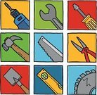 Work Tool,Hand Saw,Hammer,Drill,Circular Saw,Pliers,Screwdriver,Equipment,Shovel,Square,Level,Vector Icons,Objects/Equipment,Spanner,Blade,Block,Illustrations And Vector Art