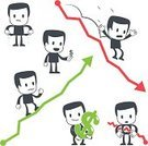 Graph,Loss,Currency,Diagram,Business,Working,Growth,Chart,Risk,Price,Finance,Deterioration,Improvement,Success,Moving Up,Falling,Bankruptcy,Businessman,Poverty,Failure,Problems,Business,Illustrations And Vector Art,Negative Emotion,People,Vector Cartoons,Business People,Recession,Distraught