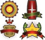 Crown,Coat Of Arms,Shield,Certificate,Insignia,Sign,Medal,Symbol,Banner,Incentive,template,Label,Ribbon,Scroll Shape,Illustrations And Vector Art,Medicine And Science,Decoration,Sun,Laurel Wreath,Medallion,Exploding,Placard