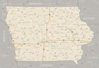 Iowa,Map,Highway,Road Map,Road,Vector,state,Iowa State,Highway Map