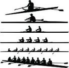 Rowing,Sport Rowing,Silhouette,Oar,Crew,Teamwork,Nautical Vessel,Sport,Scull,People,Men,Vector,Exercising,Water,Athlete,Ilustration,One Person,Two People,Healthy Lifestyle,Isolated,Success,Activity,Four People,Black And White,The Human Body,Motion,Cut Out,Outdoors,Action,Sports And Fitness,Male,Water,Adult,Medium Group Of People,Isolated On White,Physical Activity,Illustrations And Vector Art,Black Color,Team Sports