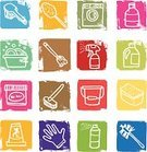 Cleaning,Mop,Icon Set,Broom,Bucket,Dishwashing Liquid,disinfectant,Laundry Detergent,Washing Dishes,Washing Machine,Merchandise,Block,Bath Sponge,Equipment,Washing Up Glove,Bottle,Washing Tub,Grunge,bottle brush,Warning Sign,Objects/Equipment,Spraying,Toilet Brush,Textured Effect,Square,Stain Remover,Shampoo,Vector Icons,Illustrations And Vector Art