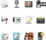 Symbol,Magazine,Newspaper,Computer Icon,The Media,Icon Set,Book,Information Medium,Television Set,Radio,Blog,Audio Equipment,Electrical Equipment,Advice,Entertainment,Mobile Phone,DVD,Text Messaging,VCR,Electronics Industry,Communication,Set,Mail,Megaphone,Camera - Photographic Equipment,Microphone,Technology,Push Button,Smart Phone,Interface Icons,Vector,Disk,Multimedia,Design Element,Collection,rss,Shadow,dv,Design,graphic element,media icons,Isolated On White,Broadcasting,Communication Media,Mobile Media,Portable Recorder,Digital Camera