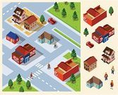 Isometric,City,Neighbor,Built Structure,Urban Scene,Community,Residential District,House,Building Exterior,Friendship,Transportation,Car,Street,Tree,Relaxation,Rural Scene,Cafe,Traffic,Environment,Vector,Set,Suburb,Non-Urban Scene,Land Vehicle,Land,Residential Structure,Nature,Tranquil Scene,stay,Grass,Direction,Writing,Illustrations And Vector Art,Outdoors,Architecture