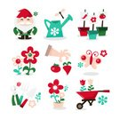 Gardening,Flower Bed,Garden Gnome,Flower,Insect,Vegetable,Cute,Icon Set,Dragonfly,Butterfly - Insect,Flower Pot,Gardening Equipment,Hedge Clippers,Wheelbarrow,Set,Tulip,Watering Can,Fun,Turnip,Tomato,Nature,Gardening Fork,Gardens,Spring,Green Thumb,Gardening Glove